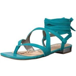 [Sam Edelman] NWOT Teal Davina Lace Up Sandals